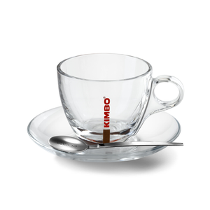 Kimbo Glass Cappuccino Cup (6/set)  (OUT OF STOCK)