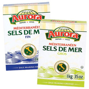 Aurora Medirerranean Sea Salt - Coarse & Fine - 1kg