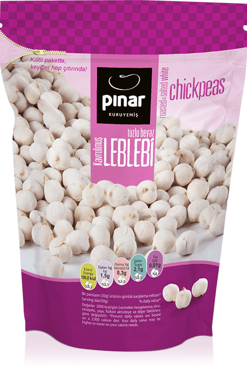 Pinar Roasted & Salted White - Chickpeas 200g - Turkish Mart