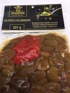 "Ca Mucci Olives Calabrese ""Marinated Green Olives"" - 227g"