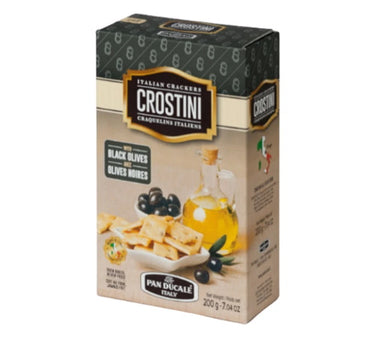 Crostini Italian Crackers with Black Olives - 200g