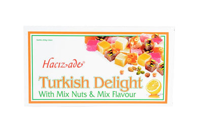Hacizade Turkish Delight- With Mix Nuts & Mix Flavour - 454g