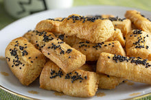 "finger cookies with black caraway "" corek otlu parmak kurabiye "" - 300g - Turkish Mart"