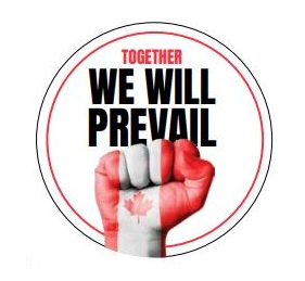 "Removable Stickers  Together We Will Prevail  ""Circle"""
