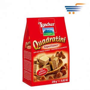 "Loacker Quadratini  Wafer Cookies with ""Hazelnut"" - 250gr"
