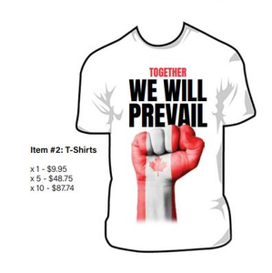 "T-Shirt Together We Will Prevail  ""Medium``"