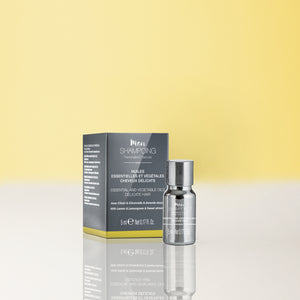 DELICATE HAIR - BOOSTER - Essential & veg. oils - SOOTHING AND FORTIFYING FROM SICILY - Lemon-Lemongrass-Sweet almond / 5ml