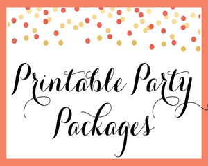 Printable Party Packages