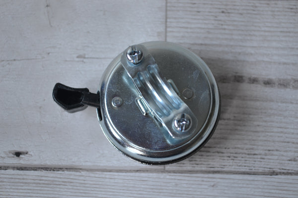 4bike chrome steel traditional bicycle dome bell rear view