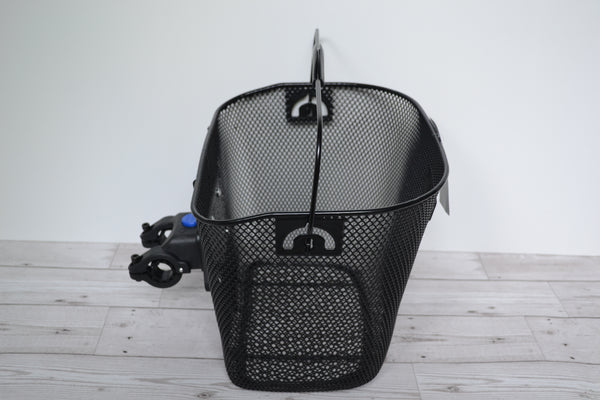 Adie BF09505 wire mesh front basket handlebar mount quick release volendo north black