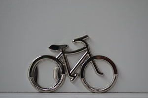 Chrome Bicycle Shaped Beer Bottle Opener Volendo North