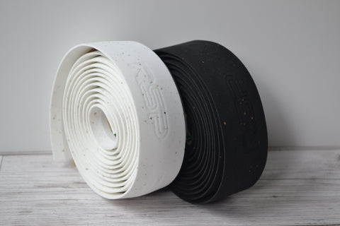 RSP Race Cork Handlebar Tape black and white rolls