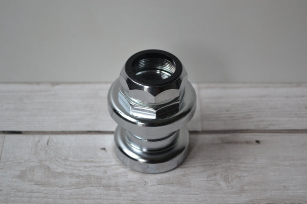"1"" (25.4mm) silver steel threaded headset assembly raleigh"