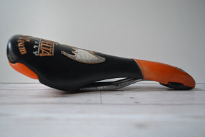 Selle Bassano Vuelta R531 Saddle embroidered vintage 1996 italy volendo north