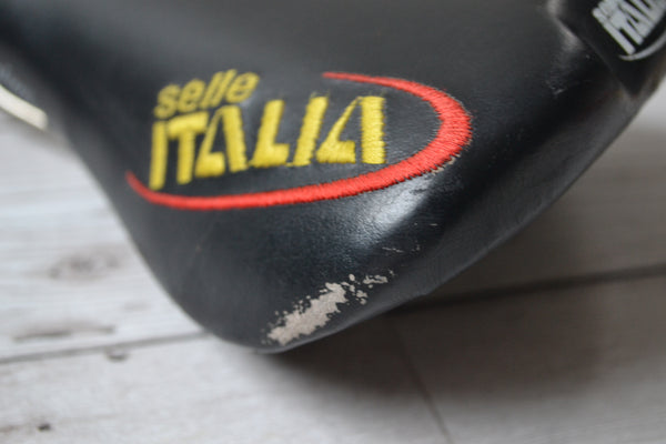 Selle Italia Flite Titanium Saddle scuffed rear left corner