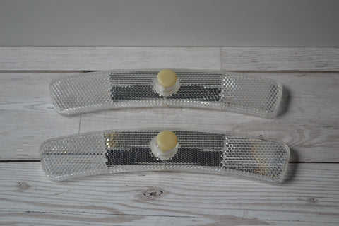 Talmu 512 White Spoke Mounted Reflectors 1980's Pair