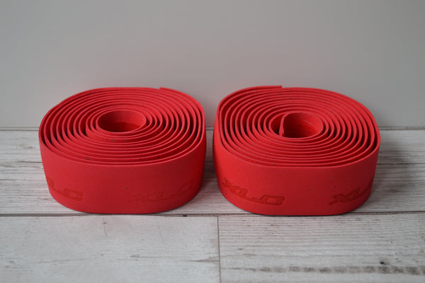 XLC Gel Handlebar Tape red rolls x 2
