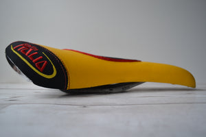 Yellow Selle Italia Gel Saddle Side View
