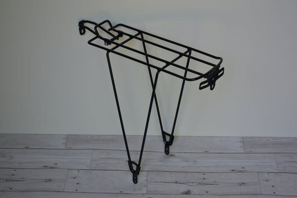 rsp amd143 raleigh steel black rear luggage pannier rack 26 inch - 700c volendo north touring road bike