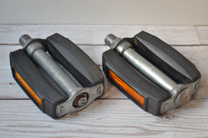 vintage weco 804 rubber block pedals k10493 pair