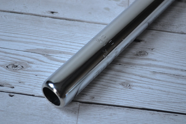 raleigh rfs113 25.4mm x 229mm seatpost volendo north steel chrome pin