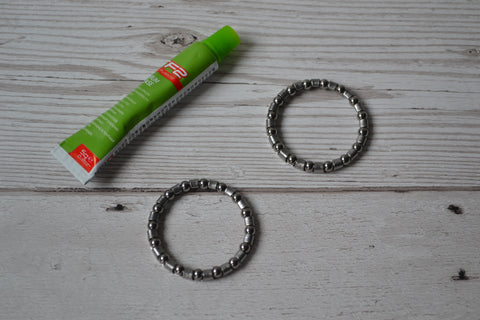 "1"" Headset 5/32"" Ball Bearing Cages - Pack of 2 with 5g TF2 Lithium Grease"