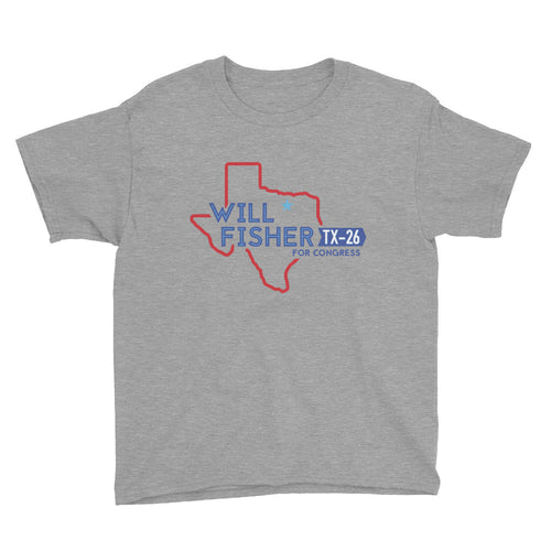 Youth's T-Shirt: Will Fisher Texas Logo (Color)