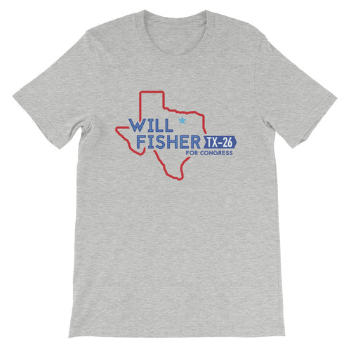 T-Shirt for the Revolution: Unisex, Will Fisher Logo (Color)