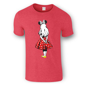 Kids T-shirts - Alice Gold Silhouette and Minnie Alice Design