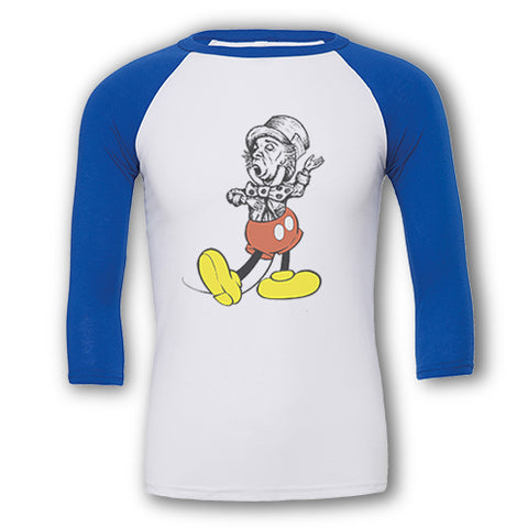 Retro Twisted Mickey - Raglan T-Shirt