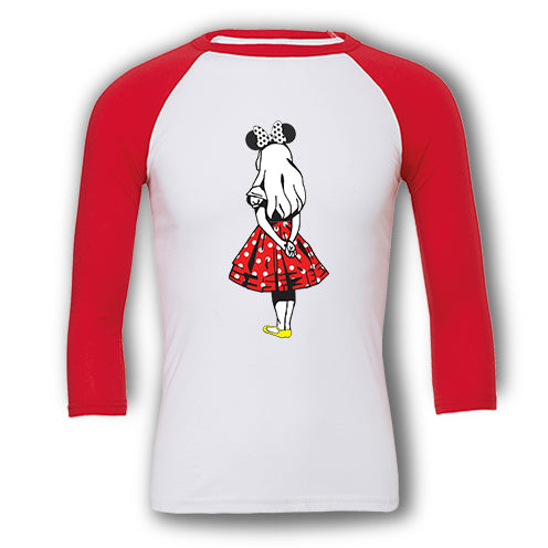 Retro Twist Minnie - Raglan T-Shirt
