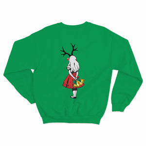 Alice Reindeer Christmas Kids Sweater