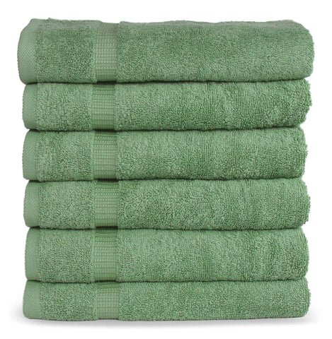 SALBAKOS Luxury Hotel & Spa Turkish Cotton 6-Piece Eco-Friendly Hand Towel Set 16 x 30 Inch