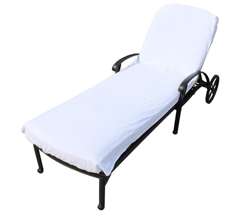 "SALBAKOS Lounge Chair Cover Luxury Turkish Cotton Side Pocket Option Eco-friendly (34""x102"" without Pocket)"