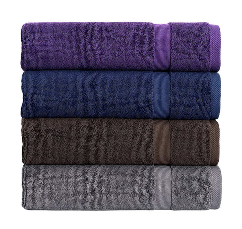 "SALBAKOS Luxury Hotel and Spa 100% Turkish Cotton Banded Panel Bath Mat Set 900gsm! 20""x34"" (2-Pack)"