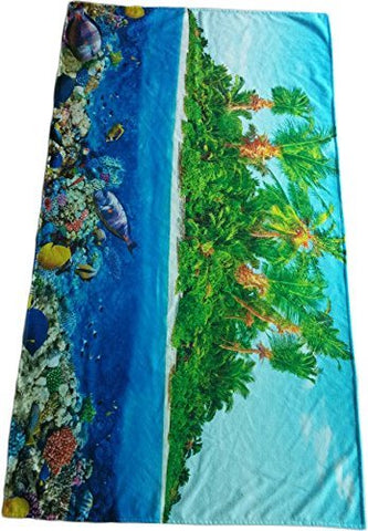 SALBAKOS Oversized Beach Towel/Blanket, Fast-Drying, Lightweight, 100% Cotton Colorful Printed Velour, 40x70, Several Beautiful Designs to Choose From