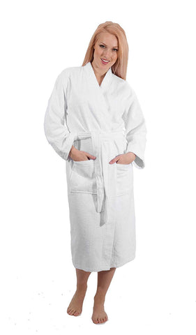 Lightweight Kimono and Shawl Style Bathrobe - Made with 100% Turkish Cotton Unisex