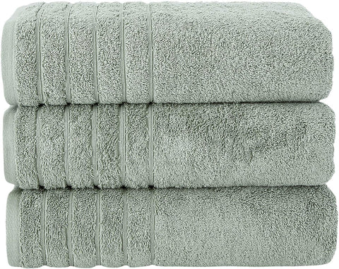 "SALBAKOS Oversized Bath Towels Barnum Collection - Turkish Luxury Hotel & Spa Quality 30""x56"" Oversize Bath Towels 100% Combed Cotton, Eco-Friendly (Set of 3, Rose)"