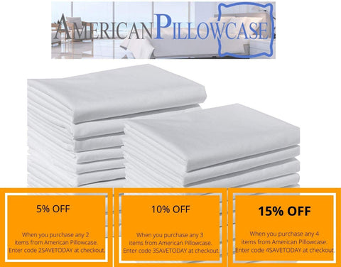"Polycotton Bulk Pack of 12 Standard Size Pillowcases, White, 200 Thread Count, 21""x30"" (Fits 20"" X26"" Pillow), 1 Dozen, Perfect for Physical Therapy Clinics, Hotels, Camps"
