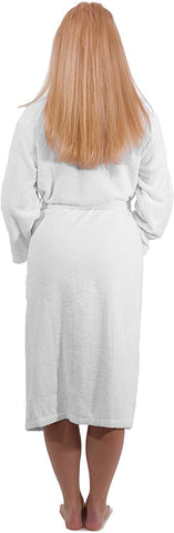 SALBAKOS Terry Shawl Collar Bathrobe - Spa Unisex Robes Made with 100% Cotton