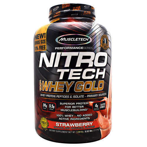 MuscleTech Performance Series Nitro Tech 100% Whey Gold 5.53lb