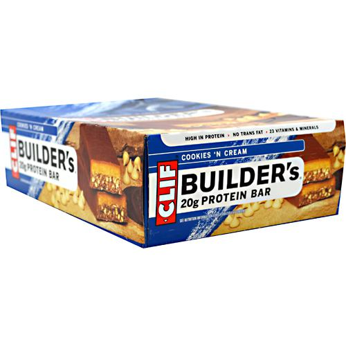 Clif Builder's Cocoa Dipped Double Decker Crisp Bar 12 Servings