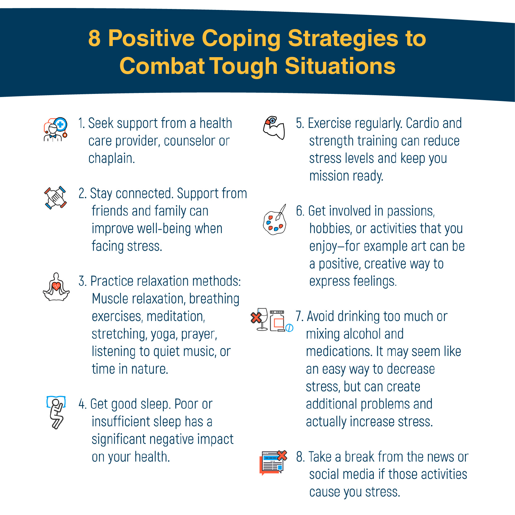 8 Positive Coping Strategies - High Resolution