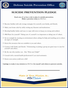 Suicide Prevention Pledge - High Resolution