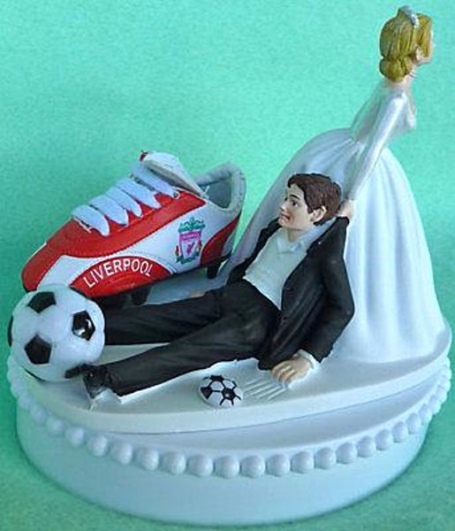 Wedding Cake Topper - Liverpool Soccer F.C. Football Club Themed