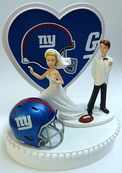Giants wedding cake topper New York football NY Fun Wedding Things sports fans bride runaway groom humorous