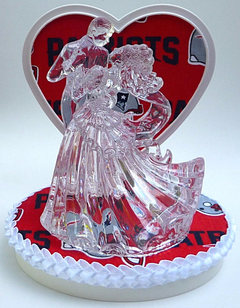 New England Patriots wedding cake topper FunWeddingThings.com
