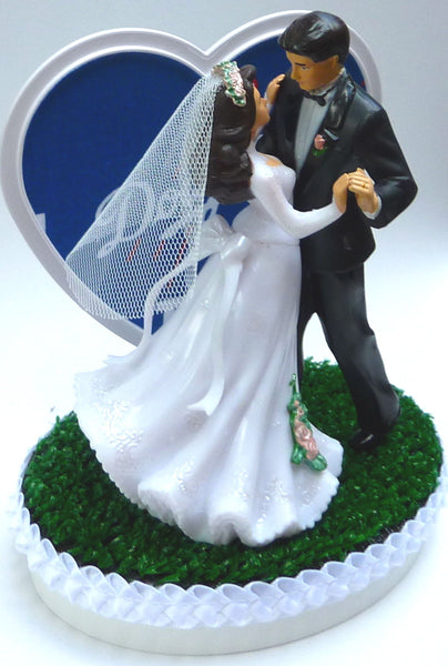 L.A. Dodgers cake topper baseball wedding Los Angeles pretty dancing FunWeddingThings.com