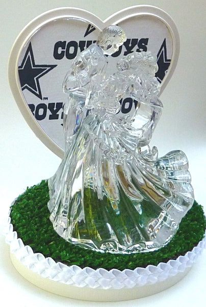 Green turf wedding cake topper sports FunWeddingThings.com football NFL fans unique groom's cake top