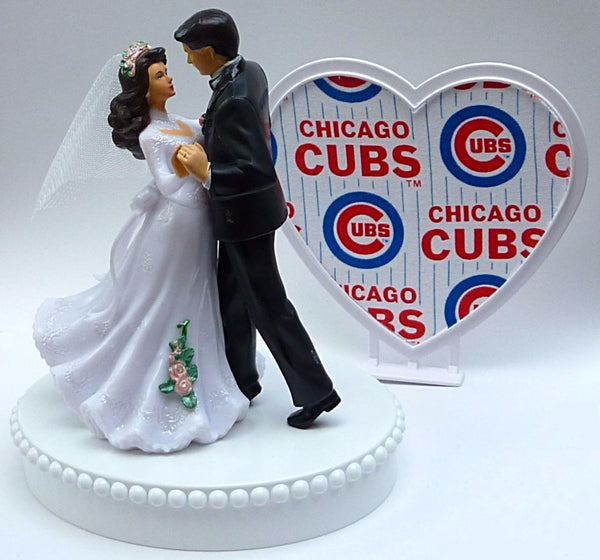 Chicago Cubs wedding cake top groom's topper baseball fans